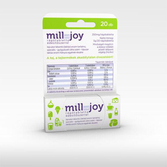 Millandjoy rágótabletta 20x édesítőszerrel tejcukor lebontó (laktáz) enzim tartalmú speciális - gyógyászati célra szánt - tápszer