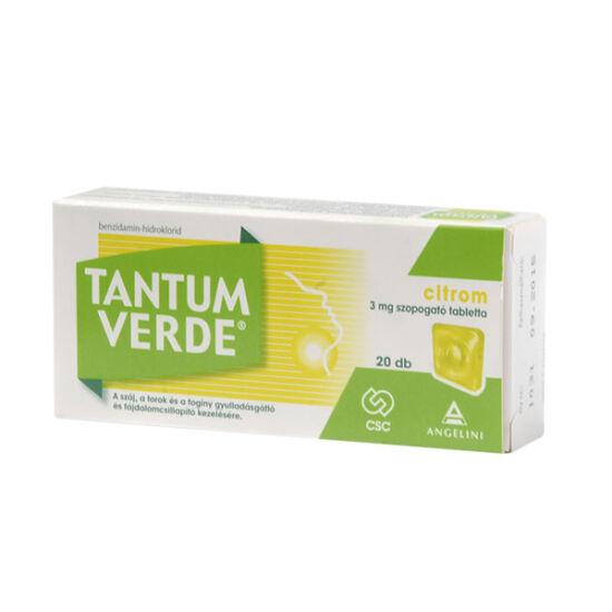 Tantum Verde citrom 3mg szop.tabl.(Tantum Lemon) (20x)