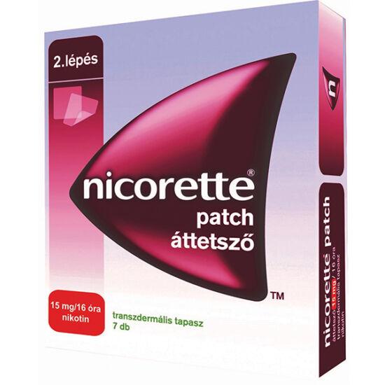Nicorette patch áttetsző 15 mg/16 óra transz.tap. (7x)