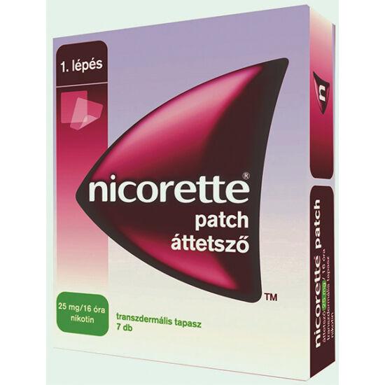 Nicorette patch áttetsző 25 mg/16 óra transz.tap. (7x)
