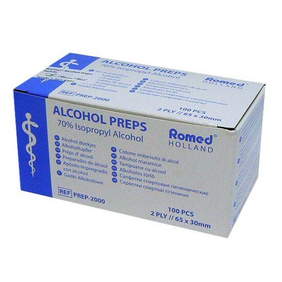 ROMED Alcohol Preps törlőkendő (100x)