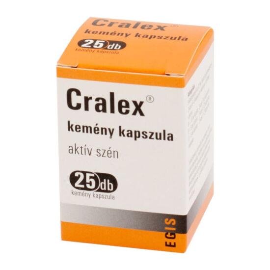 Cralex kemény kapszula (Carbo medicinalis) (50x)