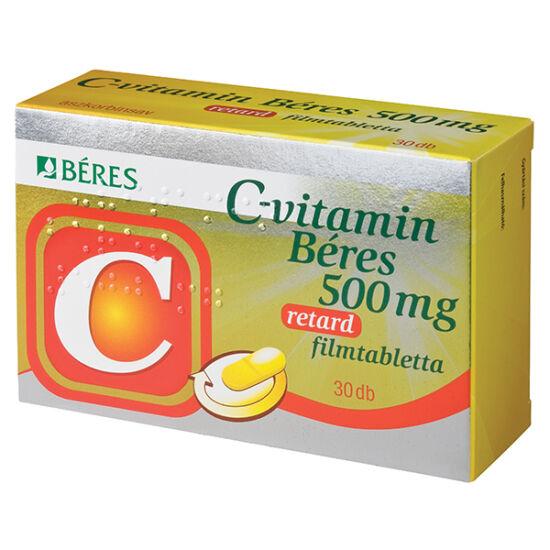 Béres C-vitamin 500mg retard filmtabletta (30x)