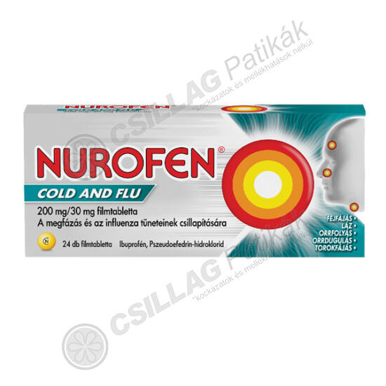 Nurofen Cold and Flu 200mg/30mg filmtabletta (24x)