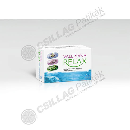 Valeriana Relax Gyógynövény lágy kapszula (60x)