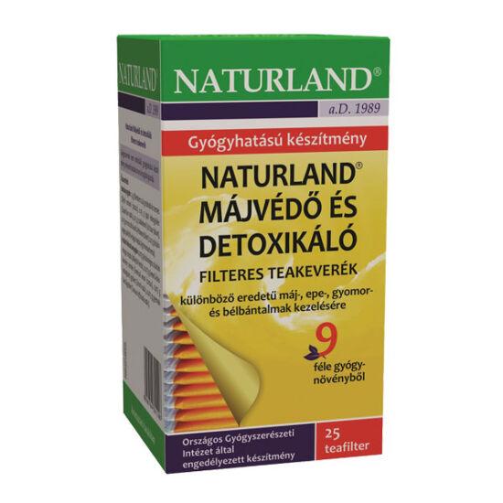 Naturland májvédő, detoxikáló tea filteres (25x)