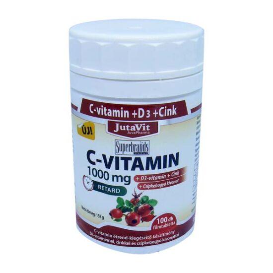 JutaVit C-vitamin 1000 mg Csipkeb.+D3 retard filmt (45x)
