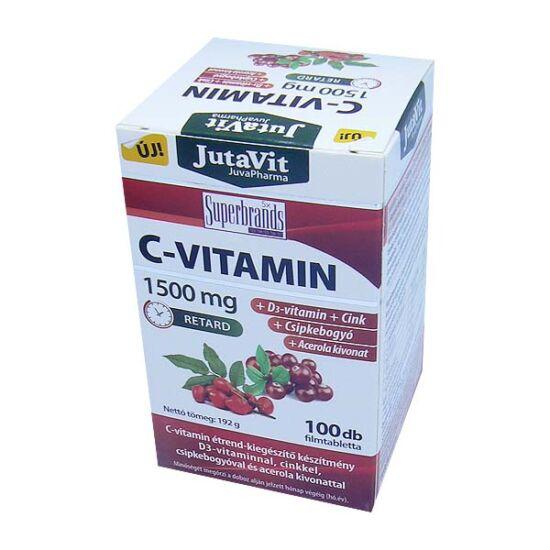 JutaVit C-vitamin 1500mg Csipkebogyó+Acerola+D3 ft (100x)