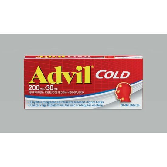 Advil Cold 200 mg/30 mg bevont tabletta (20x)