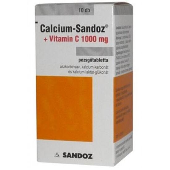 Calcium-Sandoz + Vitamin C 1000mg pezsgőtabletta (10x)
