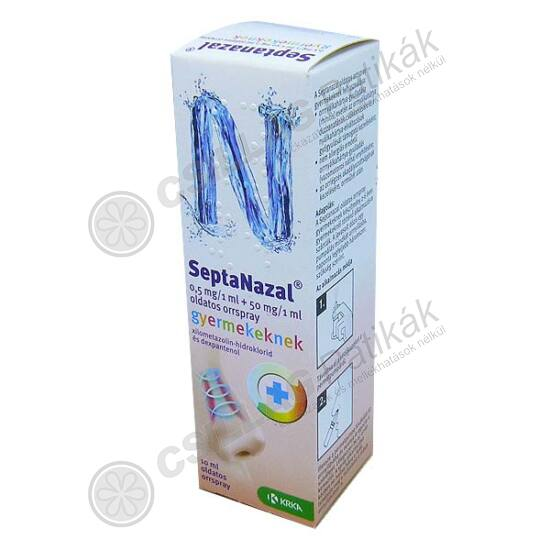 Septanazal 0,5 mg/1 ml + 50 mg/1 ml old.orrspr.gy. (10ml)