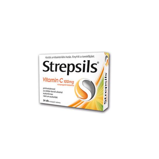 Strepsils Vitamin C 100 mg szopogató tabletta (24x)