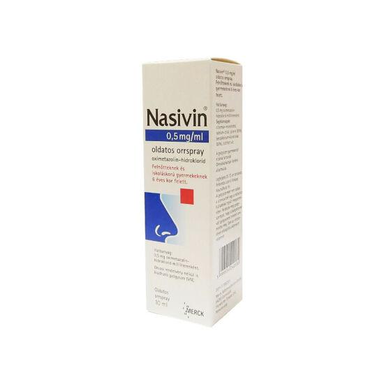 Nasivin 0,5mg/ml oldatos orrspray (1x10ml)