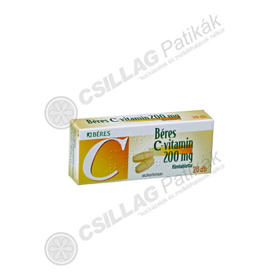 Béres C-vitamin 200mg filmtabletta (20x)