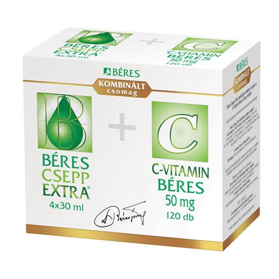 Béres Csepp Extra bels.old.csepp+C-vitamin 50 mg t (4x30ml+120x)