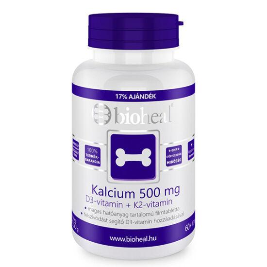 Bioheal Kalcium 500 mg + D3 + K2 filmtabletta (70x)