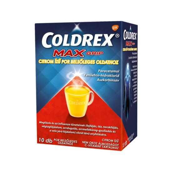 Coldrex MaxGrip citrom ízű por belsőleges oldathoz (10x)