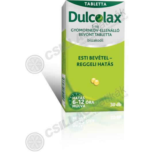 Dulcolax  5 mg gyomornedv-ellenálló bevont tabl. (30x)