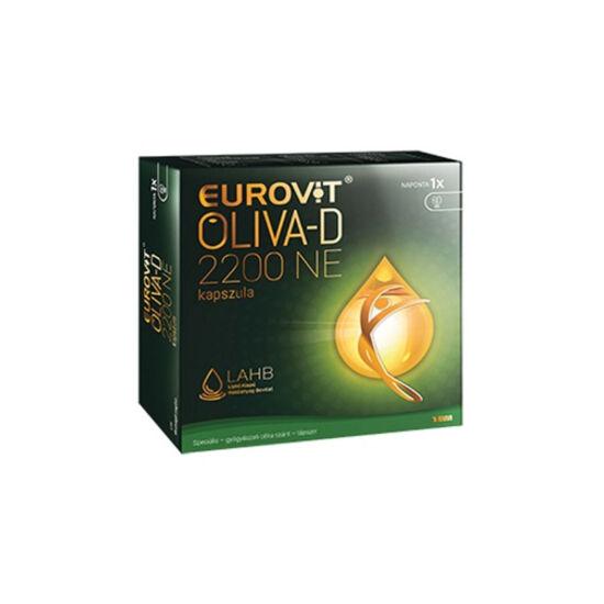 Eurovit Oliva-D 2200NE kapszula (60x) D-vitamin extra szűz olívaolajban speciális - gyógyászati célra szánt - tápszer