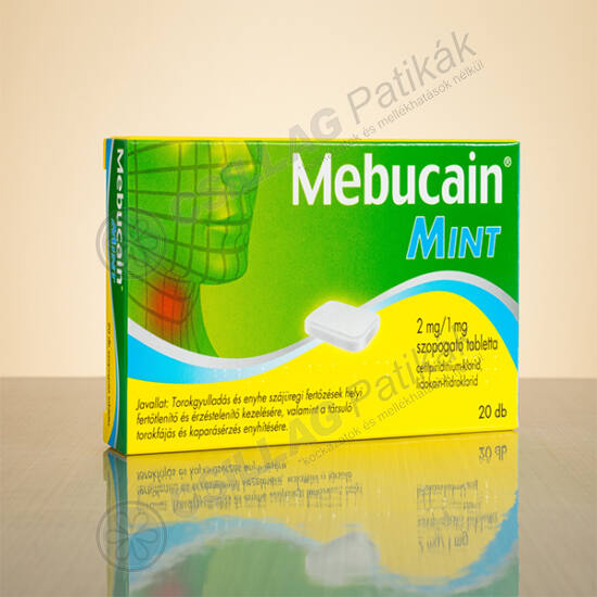 Mebucain Mint 2mg/1mg szopogató tabletta (20x)