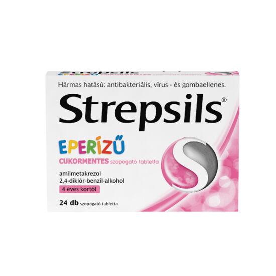 Strepsils eperízű cukormentes szopogató tabletta (24x)