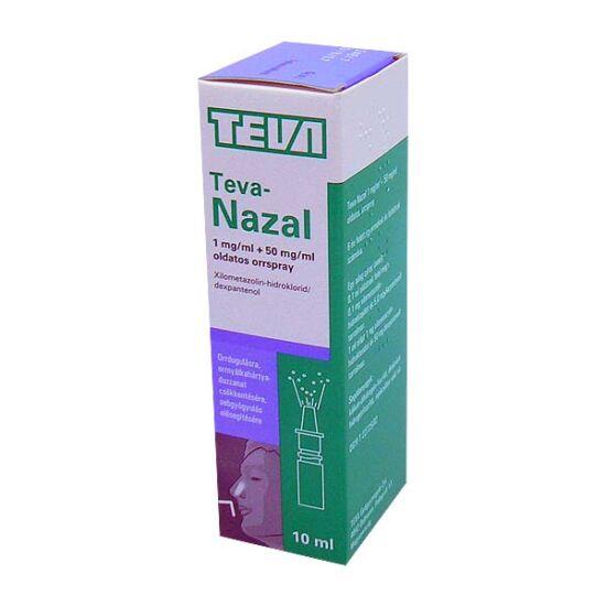 Teva-Nazal 1 mg/ml + 50 mg/ml oldatos orrspray (10ml)