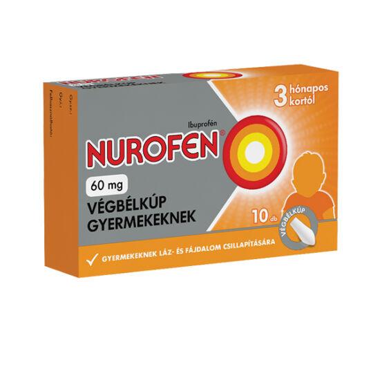 Nurofen  60 mg végbélkúp gyermekeknek (10x)