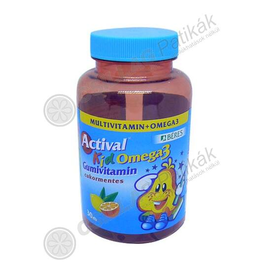 Actival Kid gumivitamin Omega-3 gumitabletta (30x)