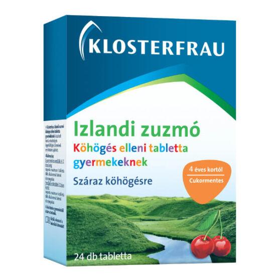 Klosterfrau Izlandi zuzmó tabletta köhögés ellen gyerekeknek (24x)