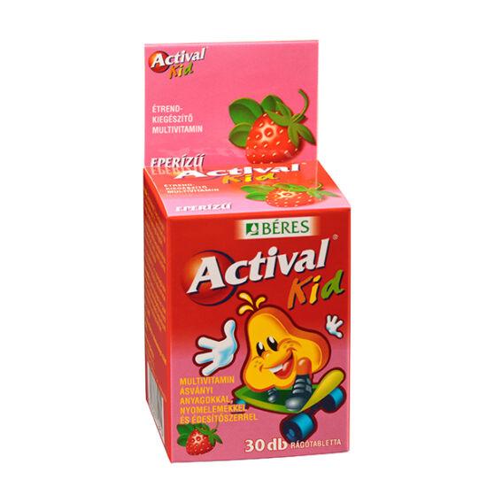 Actival Kid rágótabletta eper ízű (30x)