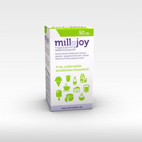 Millandjoy rágótabletta 50x édesítőszerrel tejcukor lebontó (laktáz) enzim tartalmú speciális - gyógyászati célra szánt - tápszer