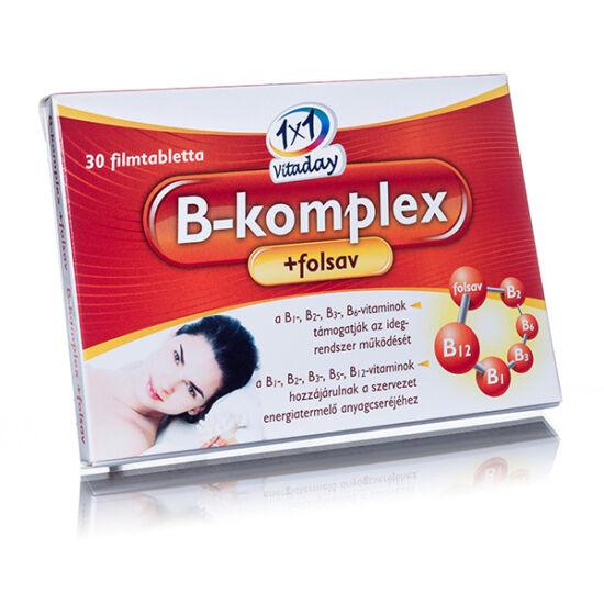 VitaPlus 1x1 B komplex folsav tabletta (30x)