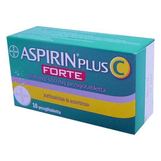 Aspirin + C Forte 800 mg/480 mg pezsgőtabletta (10x)