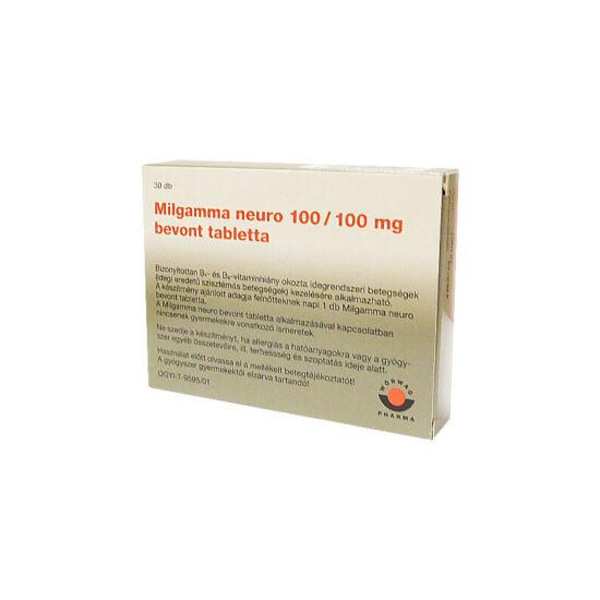Milgamma neuro 100/100 mg bevont tabletta (30x)