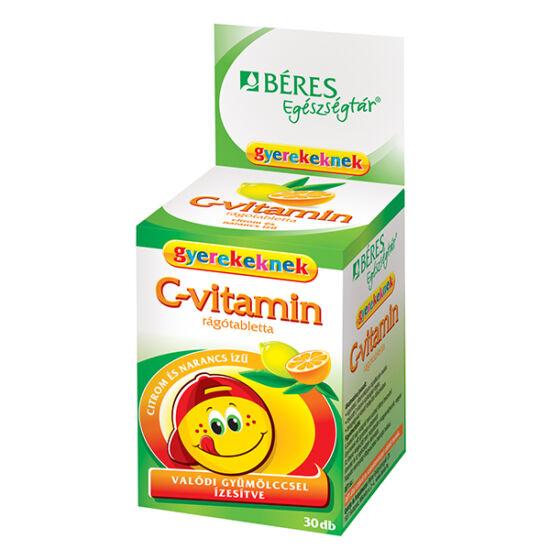 Béres Egészségtár C-vitamin rágótabletta gyerek (30x)