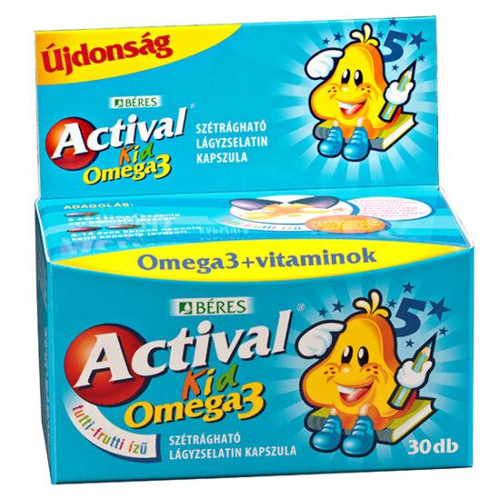 Actival Kid Omega-3 szétrágható kapszula (30x)