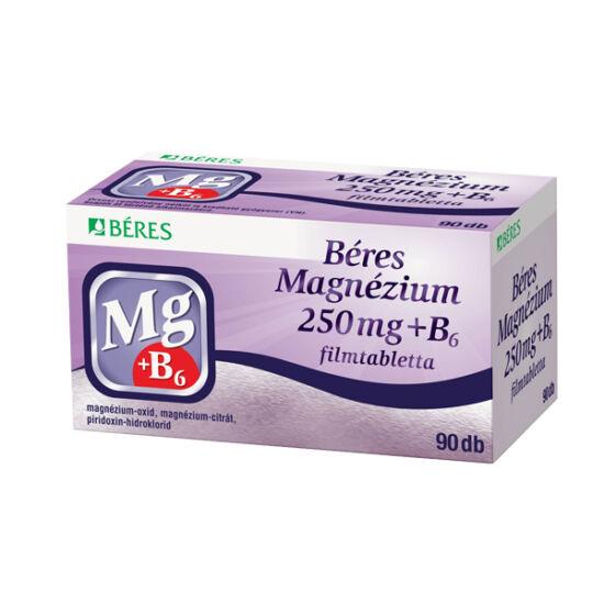 Béres Magnézium 250 mg+B6 filmtabletta (90x)