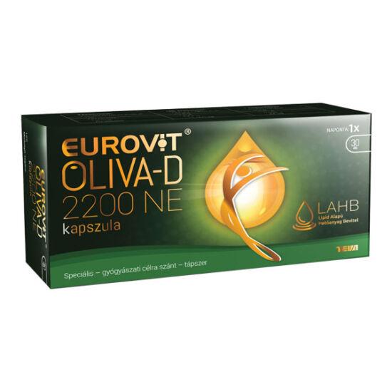 Eurovit Oliva-D 2200NE kapszula (30x) D-vitamin extra szűz olívaolajban speciális - gyógyászati célra szánt - tápszer