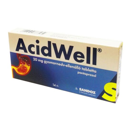 AcidWell 20 mg gyomornedv-ellenálló tabletta (14x)