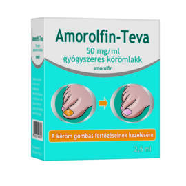 Amorolfin-Teva 50mg/ml gyógyszeres körömlakk (2,5 ml)