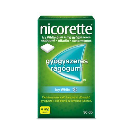 Nicorette Icy White 4mg gyógyszeres rágógumi (30x)