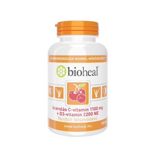 Bioheal C-vitamin 1100 mg Acerola+D3 2200NE tablet (105x)