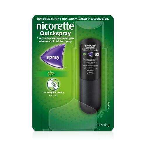 Nicorette Quickspray 1 mg/adag szájnyálk.alk.spray (1x1 adagoló tartály)