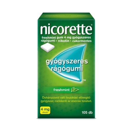 Nicorette Freshmint gum 4 mg gyógyszeres rágógumi (105x)