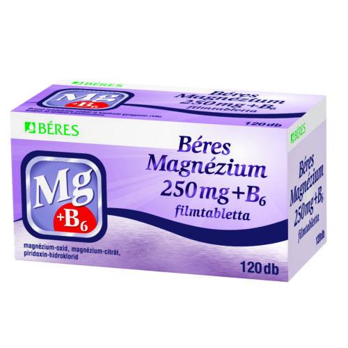 Béres Magnézium 250 mg+B6 filmtabletta  (120x)