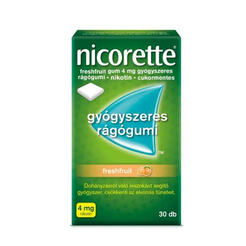 Nicorette Freshfruit 4 mg gyógyszeres rágógumi (30x)