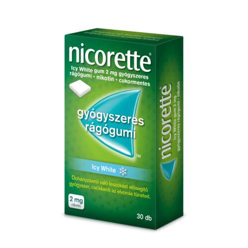 Nicorette Icy White 2mg gyógyszeres rágógumi (30x)