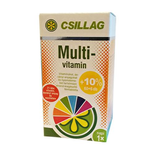 Csillag Multivitamin filmtabletta (60x+6x)