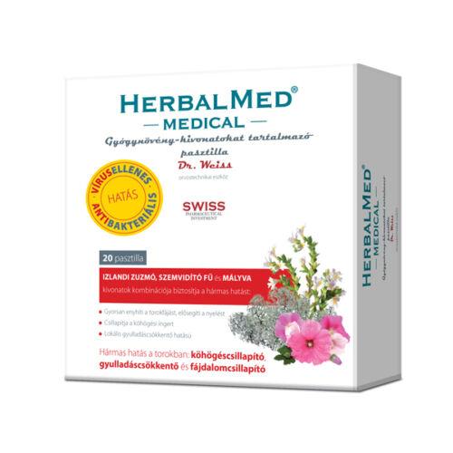 Herbalmed Medical gyógynövény pasztilla (20x)