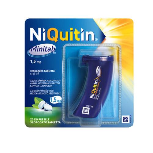 NiQuitin Minitab 1,5 mg préselt szopogató tabletta (1x20)